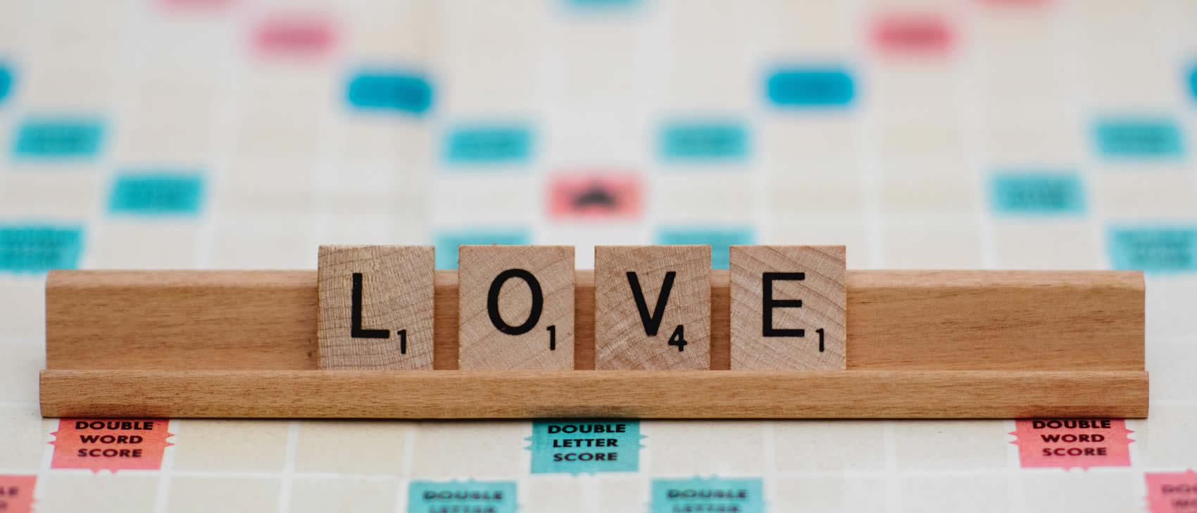 Scrabble Buchstaben Liebe